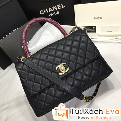 Túi Xách Chanel Coco Siêu Cấp Da Hạt Khóa Vàng Khè Size 26Cm