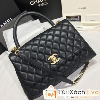 Túi Xách Chanel Coco Siêu Cấp Da Hạt Khóa Vàng Khè Size 28Cm