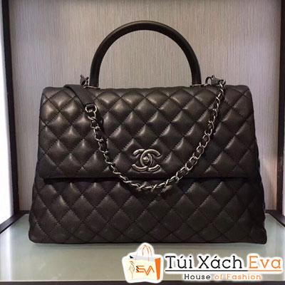 Túi Xách Chanel Coco Siêu Cấp Da Hạt Màu Đen Đẹp