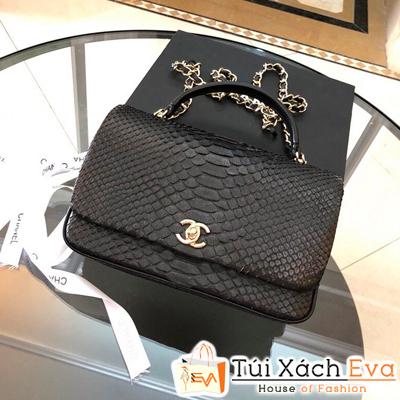 Túi Xách Chanel Coco Siêu Cấp Da Rắn Màu Đen