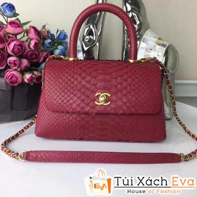 Túi Xách Chanel Coco Siêu Cấp Da Rắn Màu  Đỏ
