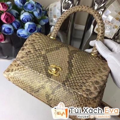Túi Xách Chanel Coco Siêu Cấp Da Rắn Màu Đồng
