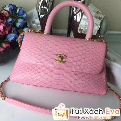 Túi Xách Chanel Coco Siêu Cấp Da Rắn Màu Hồng