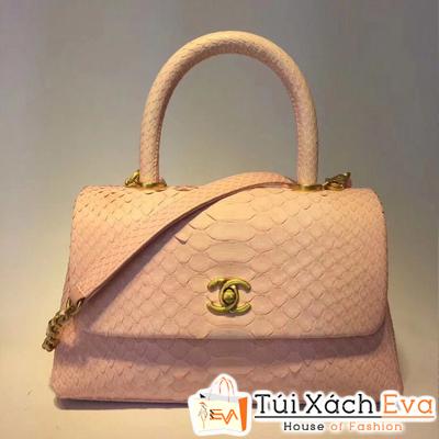 Túi Xách Chanel Coco Siêu Cấp Da Rắn Màu Hồng Phấn