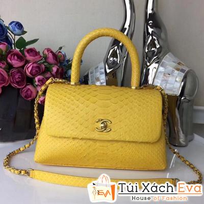 Túi Xách Chanel Coco Siêu Cấp Da Rắn Màu  Vàng