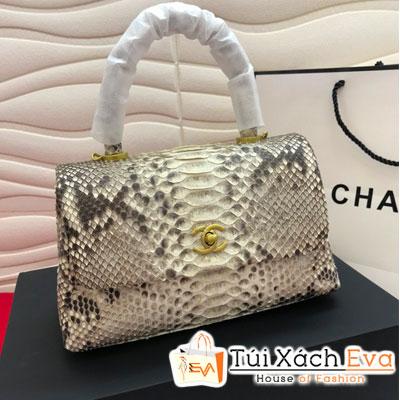 Túi Xách Chanel Coco Siêu Cấp Da Rắn Màu Xám