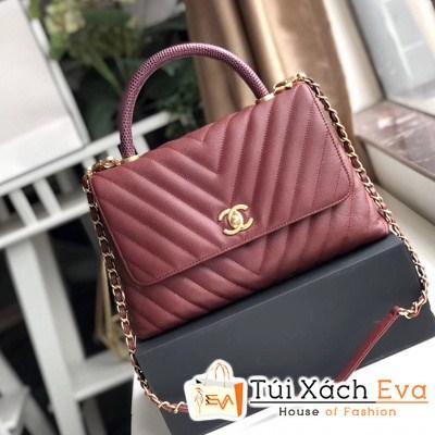 Túi Xách Chanel Coco Siêu Cấp Sọc V Màu Đỏ