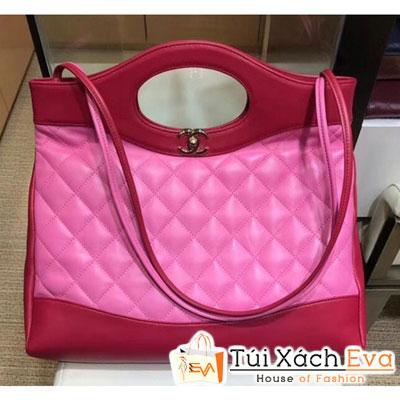 Túi Xách Chanel Crumpled Calfskin  31 Siêu Cấp Màu Hồng Đậm  a57977