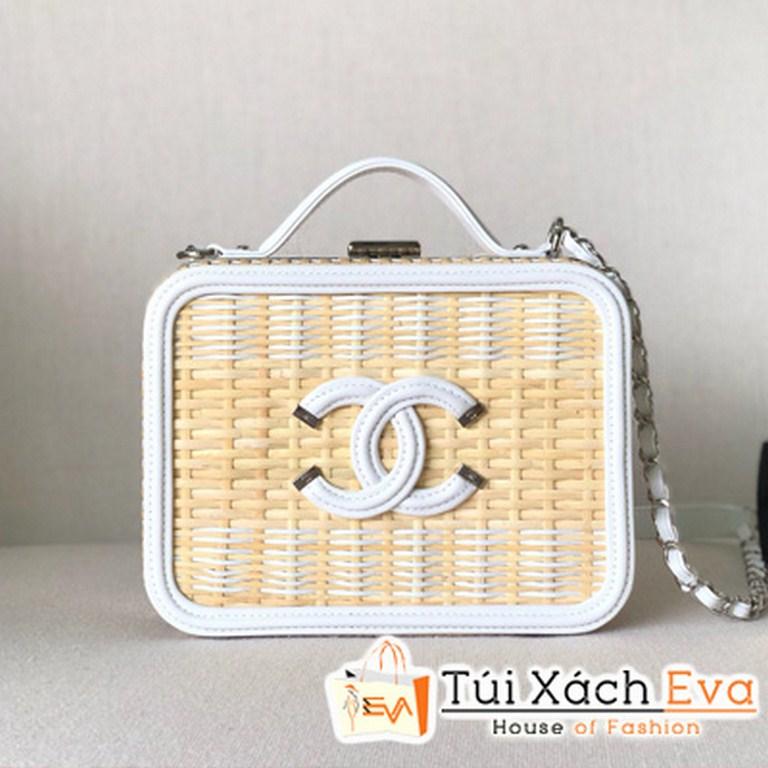 Túi Xách Chanel Da Bê Mây Siêu Cấp Màu Trắng