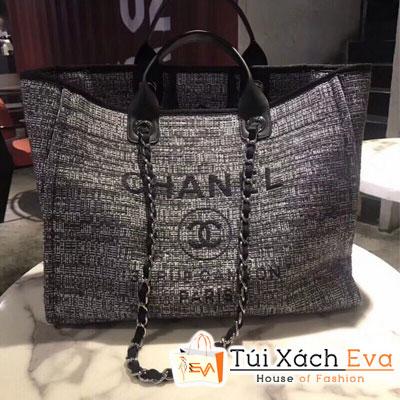 Túi Xách Chanel Deauville Tote Bag Siêu Cấp Màu Xám 66942