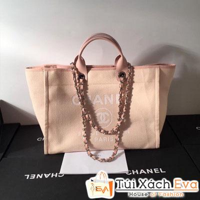 Túi Xách Chanel Đi BIển Siêu Cấp Logo Lớn Màu Hồng  Đẹp