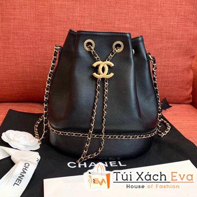 Túi Xách Chanel Drawstring Bag Siêu Cấp Màu Đen AS0373