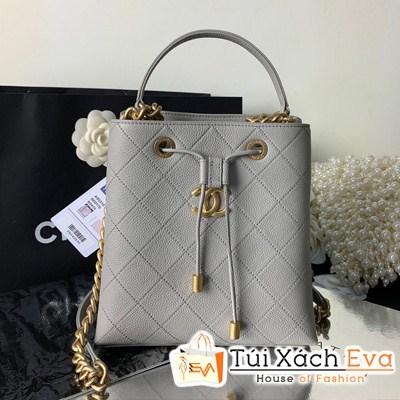 Túi Xách Chanel Drawstring Bag Siêu Cấp Màu Xám