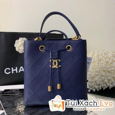Túi Xách Chanel Drawstring Bag Siêu Cấp Màu Xanh