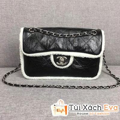 Túi Xách Chanel Flap Bag Shearling Siêu Cấp Màu Đen