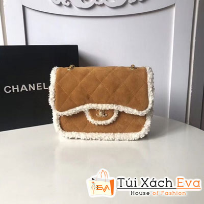 Túi Xách Chanel Flap Bag Shearling Siêu Cấp Màu Nâu
