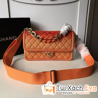 Túi Xách Chanel Flap Bag Siêu Cấp Màu Cam Xích To