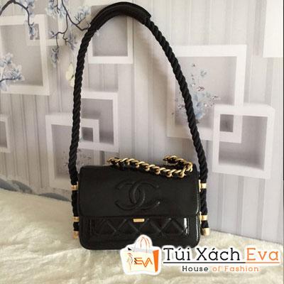 Túi Xách Chanel Flap Bag Siêu Cấp Màu Đen Da Nhăn AS0074