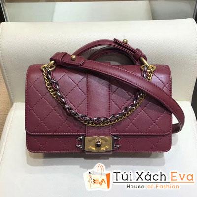 Túi Xách Chanel Flap Bag Siêu Cấp Màu Đỏ Đô  A57578