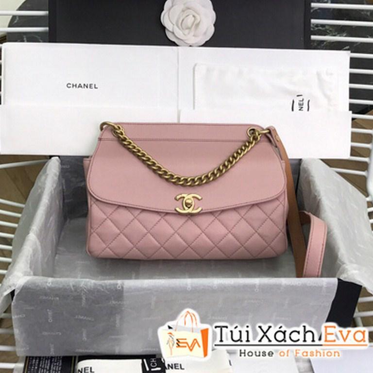 Túi Xách Chanel Flap Bag Siêu Câp Màu Hồng AS0416