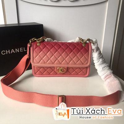 Túi Xách Chanel Flap Bag Siêu Cấp Màu Hồng Xích To