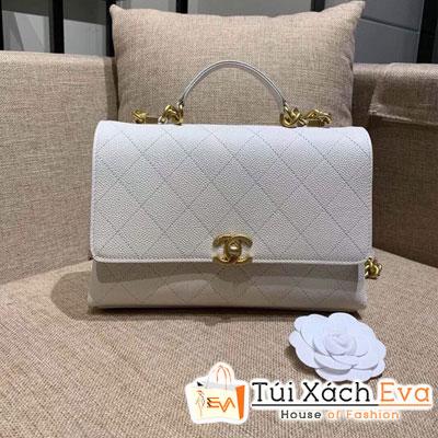Túi Xách Chanel Flap Bag Siêu Cấp Màu Trắng AS0305