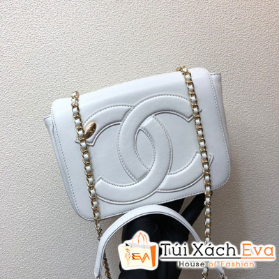 Túi Xách Chanel Flap Bag Siêu Cấp Màu Trắng AS0321