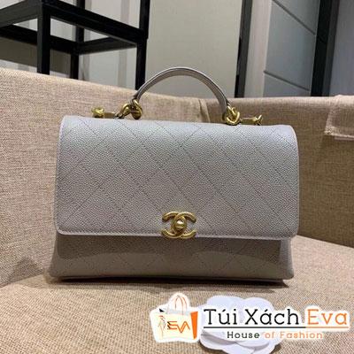 Túi Xách Chanel Flap Bag Siêu Cấp Màu Xám AS0305
