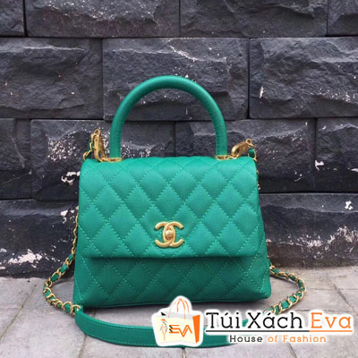 Túi Xách Chanel Coco Flap Bag  Siêu Cấp Màu Xanh