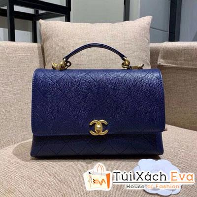 Túi Xách Chanel Flap Bag Siêu Cấp Màu Xanh Dương AS0305
