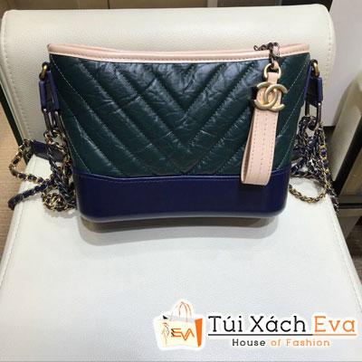 Túi Xách Chanel Gabrielle Hobo Siêu Cấp Sọc V Màu Xanh Lá Đậm