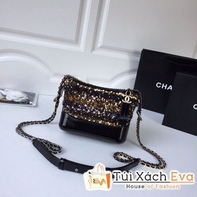 Túi Xách Chanel Gabrielle Small Hobo Bag Siêu Cấp Màu Vàng Đen