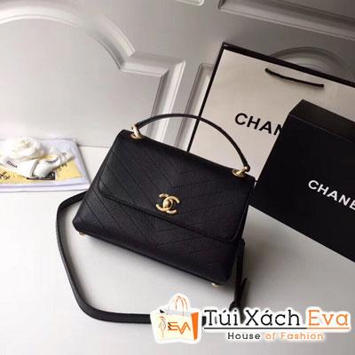 Túi Xách Chanel Handle Siêu Cấp Màu Đen