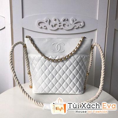 Túi Xách Chanel Hobo Handbag Siêu Cấp Màu Trắng Y84100