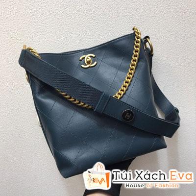 Túi Xách Chanel Hobo Handbag Siêu Cấp Màu Xanh Dương Đậm  A57573