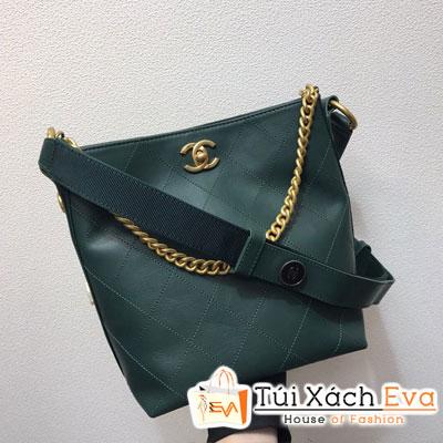 Túi Xách Chanel Hobo Handbag Siêu Cấp Màu Xanh Lá Đậm  A57573