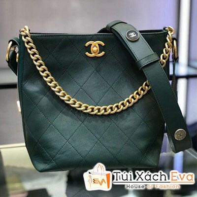 Túi Xách Chanel  Hobo Handbag Siêu Cấp Màu Xanh Rêu A57573