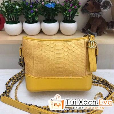 Túi Xách Chanel Hobo Siêu Cấp Da Rắn Màu Vàng