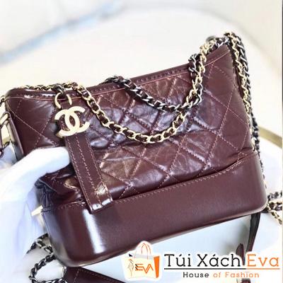 Túi Xách Chanel Hobo Siêu Cấp Màu Đỏ Mận