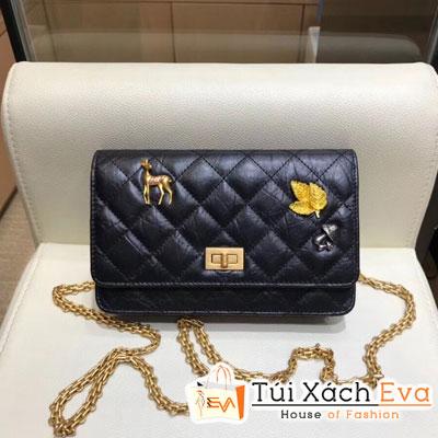 Túi Xách Chanel Katun Siêu Cấp Da Nhăn Màu Đen