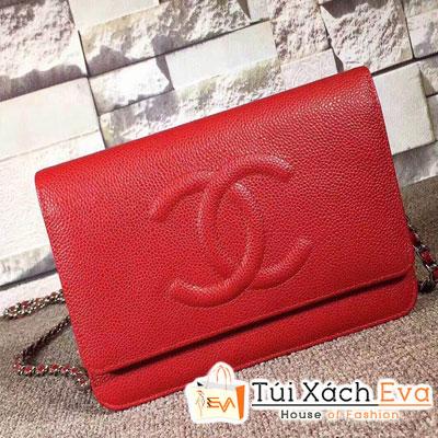 Túi Xách Chanel Katun Siêu Cấp Màu Đỏ Da Hạt