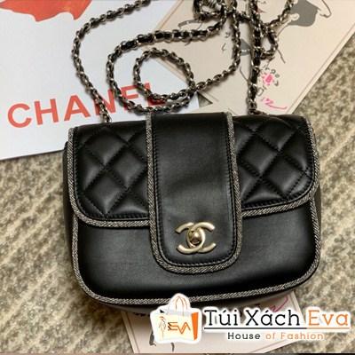 Túi Xách Chanel Khóa Cài Siêu Cấp Màu Đen
