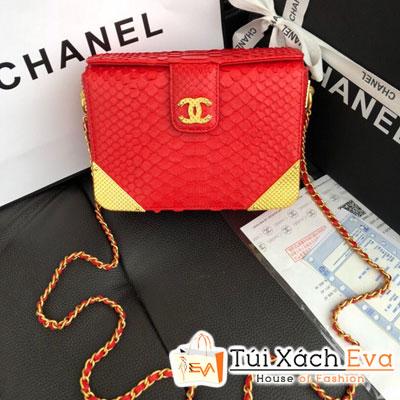 Túi Xách Chanel Lambskin Chevron with Gold-Tone Metal Minaudiere Bag Siêu Cấp Màu Đỏ Da Rắn A94507