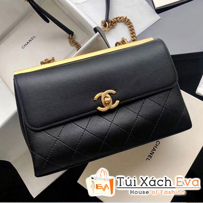 Túi Xách Chanel Lambskin Coco Luxe Màu Đen   A57087
