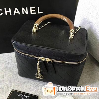 Túi Xách Chanel Lambskin Vanity Case Burgundy Siêu Cấp Hộp Màu Đen A57343