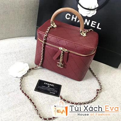 túi xách Chanel Lambskin Vanity Case Burgundy siêu cấp hộp màu đỏ A57343