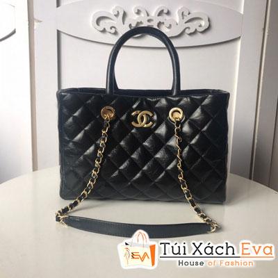 Túi Xách Chanel Large Shopping Bag Siêu Cấp Da Nhăn Màu Đen A93525