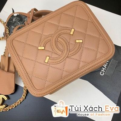 Túi Xách Chanel Large Vanity Case Siêu Cấp Màu Kem
