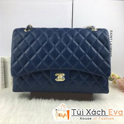Túi Xách Chanel Maxi F1 Màu Xanh Đẹp