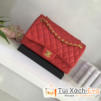 Túi xách Chanel Maxi F1 Size 28 cm Màu Đỏ Đẹp